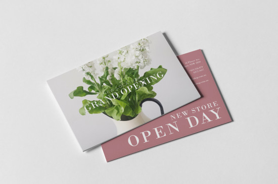 A6 cards printed full colour one side or two