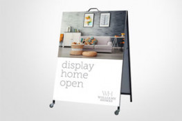 A-Frame sign full colour printing, range of sizes, colourbond or insertable corflute face