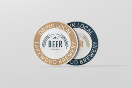 Drink Coasters round, square or custom, printed one or both sides, 1, 2 or full colour