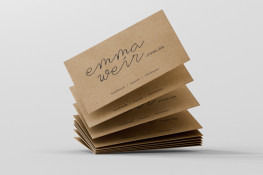 Eco-wise buffalo board, carbon neutral, fully recyclable contains at least 18% recycled content, business cards