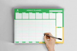 Custom Printed desk planners, daily, weekly, monthly