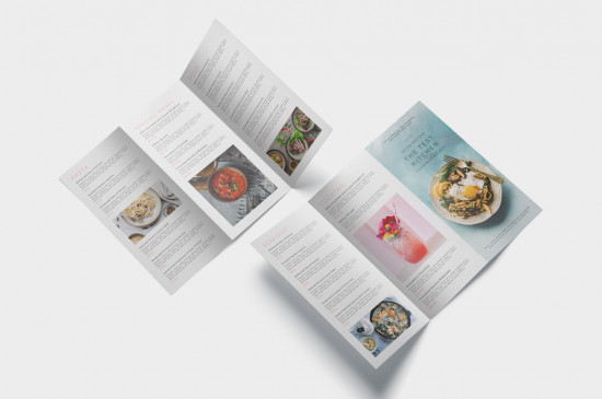 DL brochure 6 printed pages, full colour, range of premium paper stocks