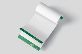A5 notepads, customised, printed one, two or full colour one side, choice of leaves