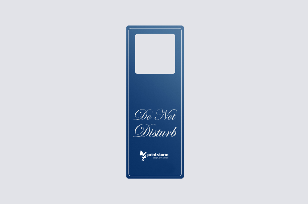 Door hanger square printed single or double sided on premium artboard