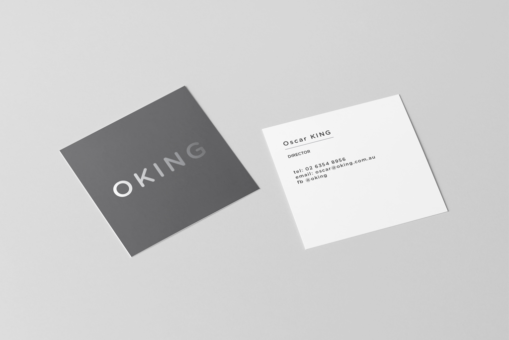 square business cards, printed one or two sides, gloss, matt or velvet laminated