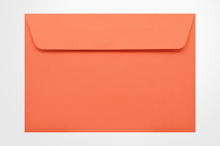 Specialty envelopes Kaskad Fantail Orange 100gsm Wallet Envelopes